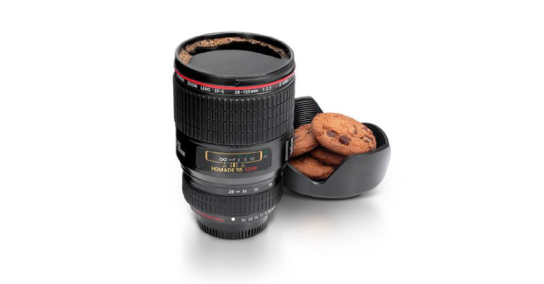 Camera lens coffee cup for Photo lens coffee cup