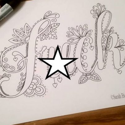 Swear Words Coloring Book